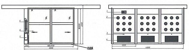 自动感应平移门货淋室方案图欣赏