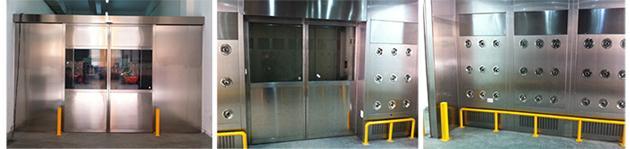 自动感应平移门货淋室工程案例欣赏