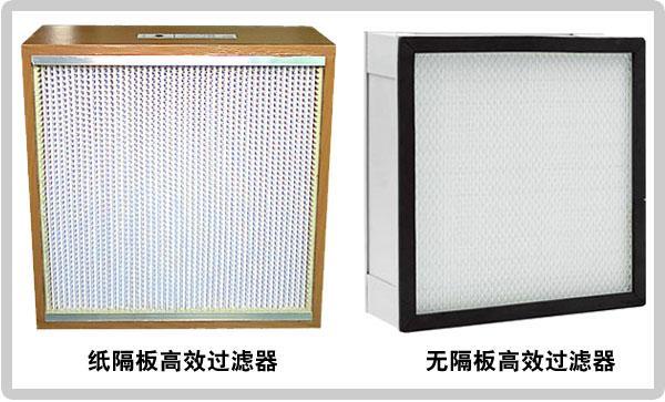 常见风淋室高效过滤器