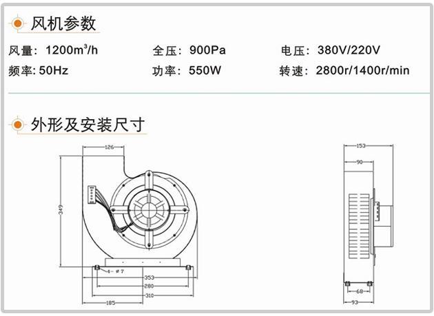 ZJ-195型号风淋室风机结构及技术参数