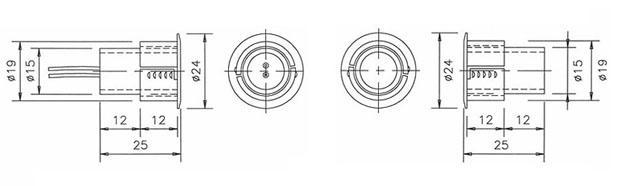 电子互锁装置门磁(磁力开关)说明及结构图