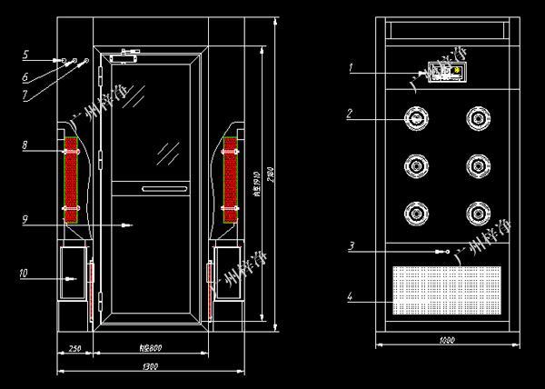 1300型风淋室方案图