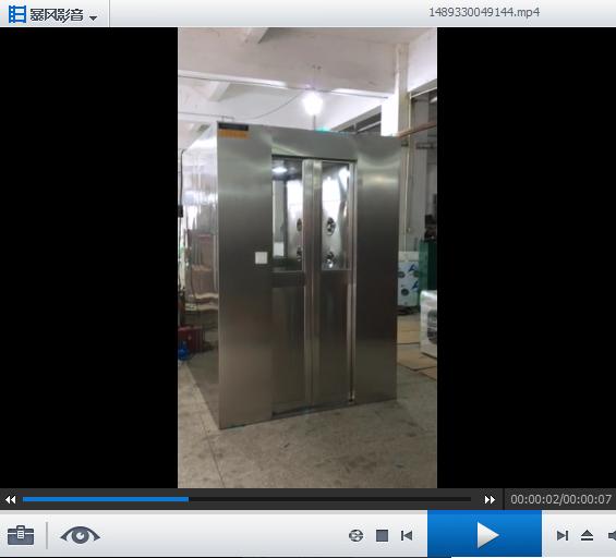 自动平移门风淋间工作运行视频